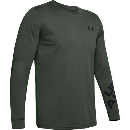 Pánske tričko s dlhým rukávom - Under Armour WORDMARK SLEEVE LS - 1