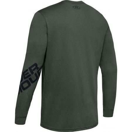 Pánske tričko s dlhým rukávom - Under Armour WORDMARK SLEEVE LS - 2