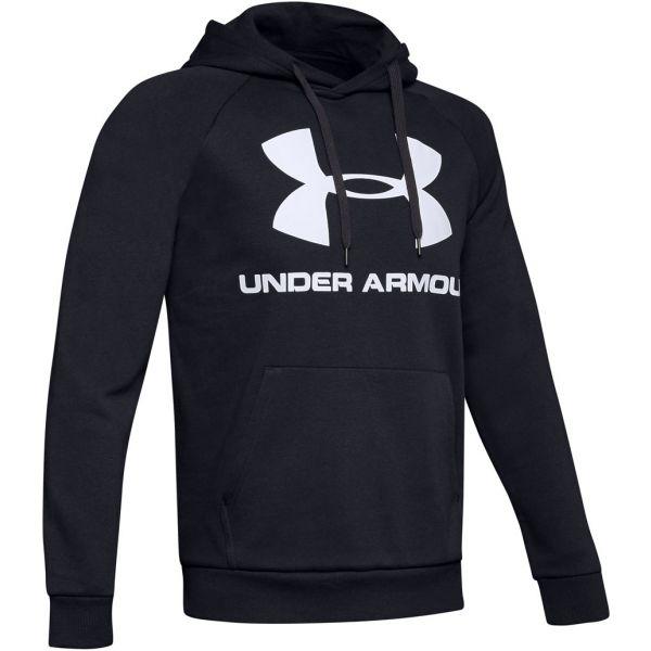 Under Armour RIVAL FLEECE SPORTSTYLE LOGO HOODIE fekete XXL - Férfi pulóver