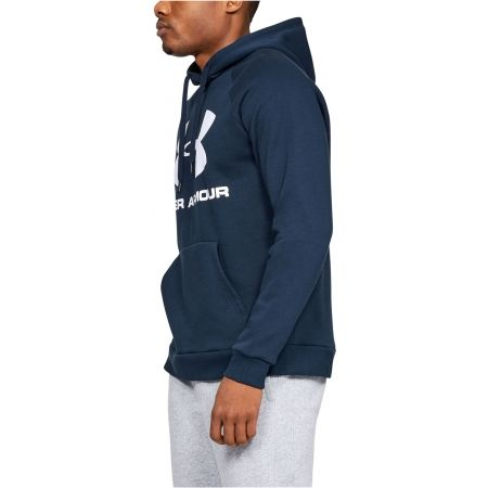 Pánska mikina - Under Armour RIVAL FLEECE SPORTSTYLE LOGO HOODIE - 5