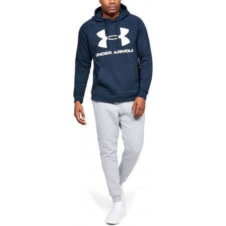 Pánska mikina - Under Armour RIVAL FLEECE SPORTSTYLE LOGO HOODIE - 3