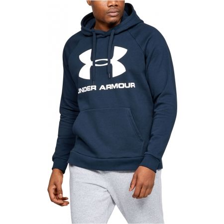 Pánska mikina - Under Armour RIVAL FLEECE SPORTSTYLE LOGO HOODIE - 4