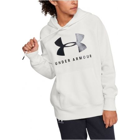 Дамски суитшърт - Under Armour RIVAL FLEECE SPORTSTYLE GRAPHIC HOODIE - 4