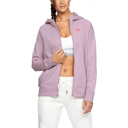 Dámska mikina - Under Armour RIVAL FLEECE SPORTSTYLE LC SLEEVE GRAPHI - 4