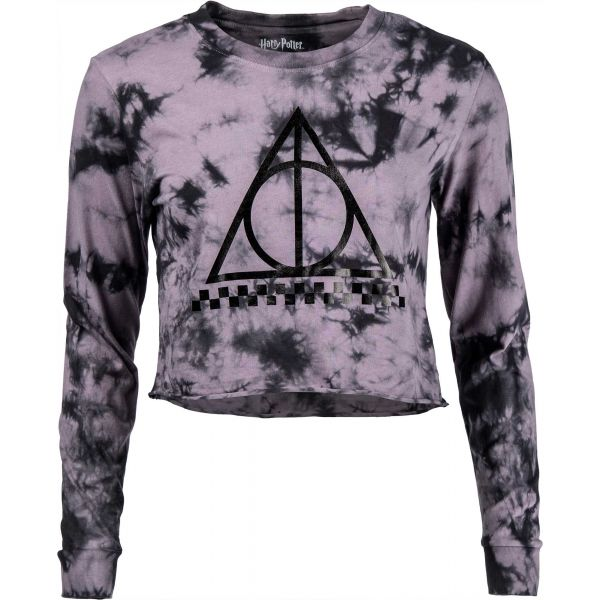 Vans WM DEATHLY HALLOWS CROP LS HARRY POTTER - Dámska Crop mikina