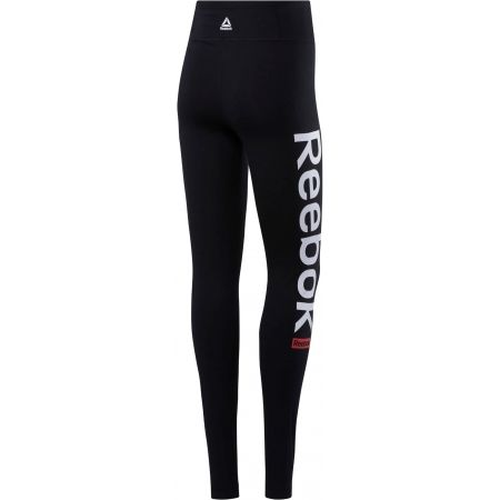 Women's tights - Reebok LINEAR LOGO TIGHTS CTN - 2