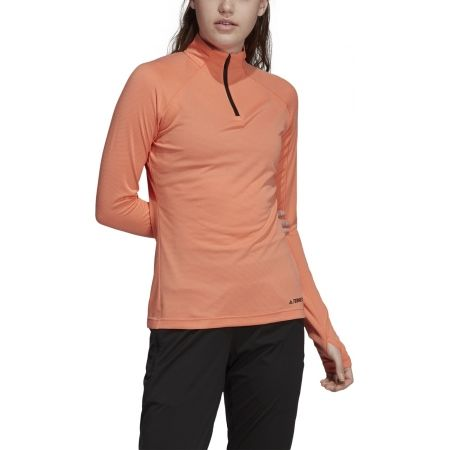 Women's sweatshirt - adidas TRACEROCKER 1/2 ZIP - 3