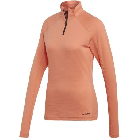 Women's sweatshirt - adidas TRACEROCKER 1/2 ZIP - 1