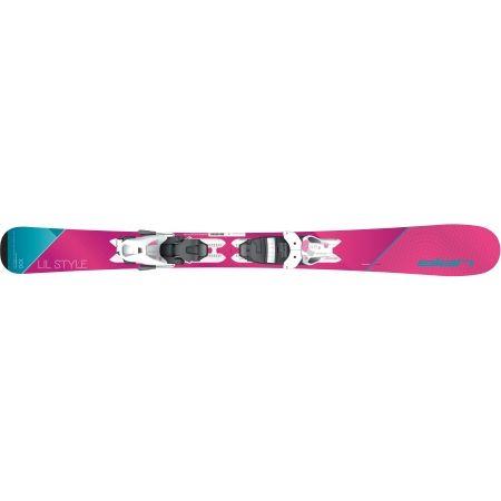 Dievčenské zjazdové lyže - Elan LIL STYLE QS + EL 4.5 - 2
