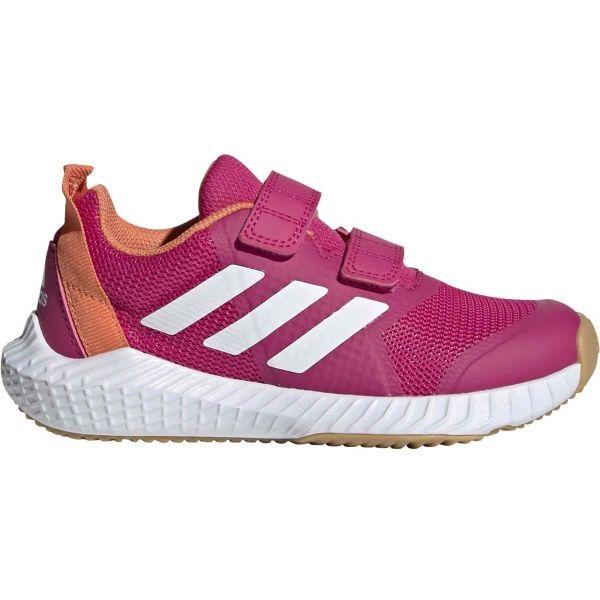 adidas FORTAGYM CF K ružová 28 - Detská halová obuv