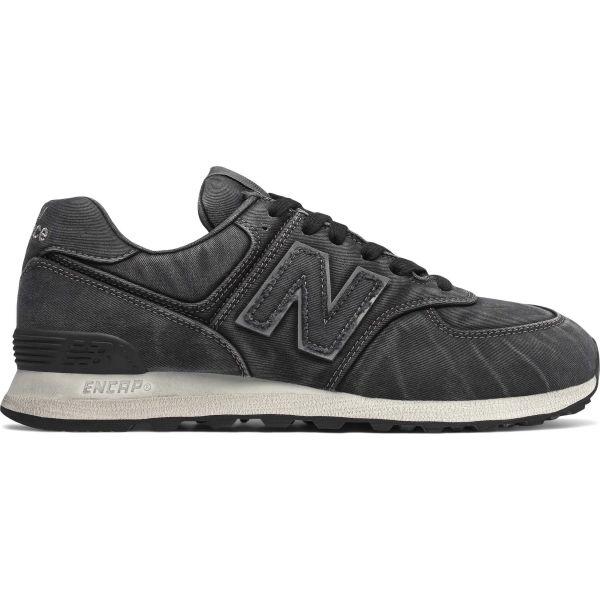 New Balance ML574WSB čierna 10 - Pánska vychádzková obuv