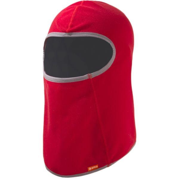 Kama DB16 KUKLA DĚTSKÁ červená UNI - Detská elastická kukla z tenkého flísu