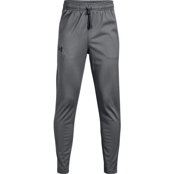 Under Armour BRAWLER TAPERED PANT ciemnaszary XL - Spodnie dresowe chłopięce
