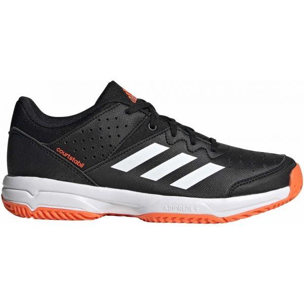 adidas COURT STABIL JR černá 3.5 - Dětská házenkářská obuv