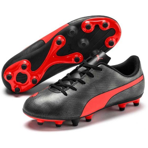 Puma RAPIDO FG JR piros 12 - Gyerek futballcipő