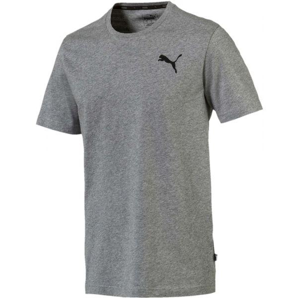 Puma ESS SMALL LOGO TEE šedá L - Pánske športové tričko