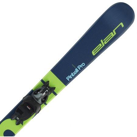 Juniorské zjazdové lyže - Elan PINBALL PRO QS + EL 7.5 WB - 3