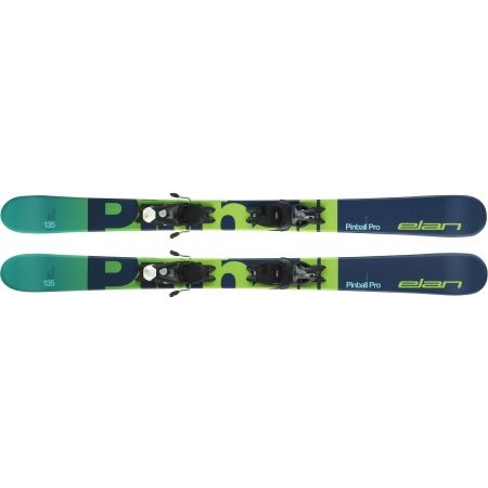 Juniorské zjazdové lyže - Elan PINBALL PRO QS + EL 7.5 WB - 4