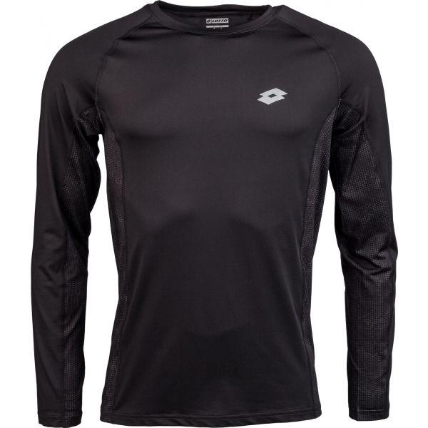 Lotto BLAKE čierna XXL - Pánske tričko s dlhým rukávom