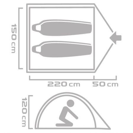 Outdoor sátor - Crossroad GULF 2 - 4