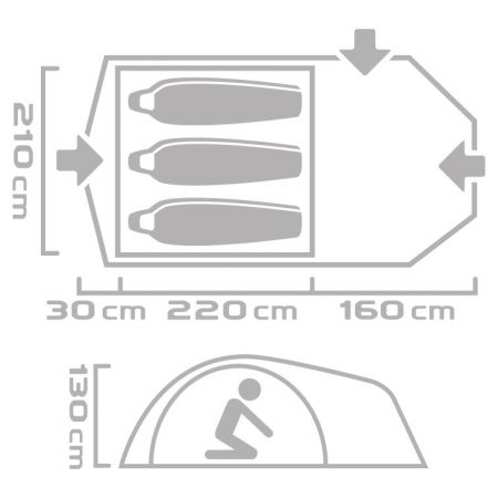 Туристическа палатка - Crossroad ZION 3 - 7