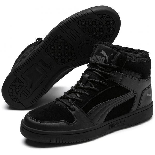 Puma REBOUND LAYUP SD FUR čierna 8.5 - Pánska voľnočasová obuv