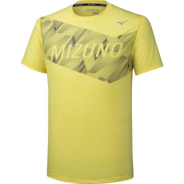 Mizuno IMPULSE CORE GRAPHIC TEE žltá XL - Pánske bežecké tričko