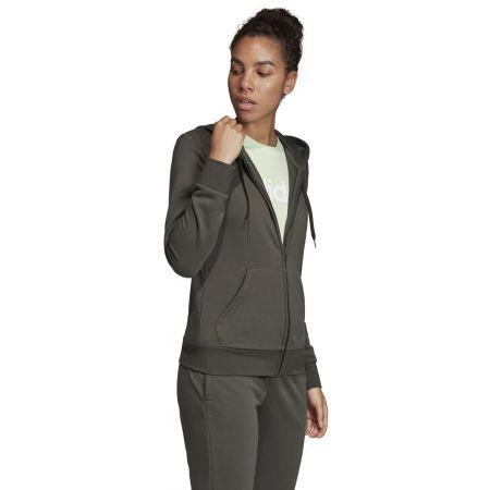 Women's hoodie - adidas W E LIN FZ HD - 5
