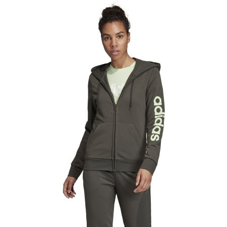 Women's hoodie - adidas W E LIN FZ HD - 4