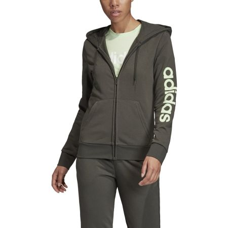 Women's hoodie - adidas W E LIN FZ HD - 3