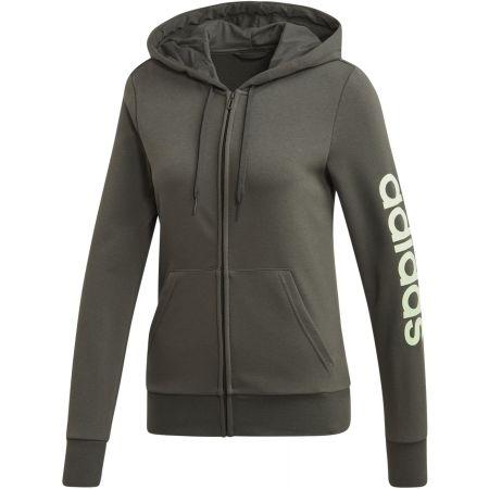 Women's hoodie - adidas W E LIN FZ HD - 1