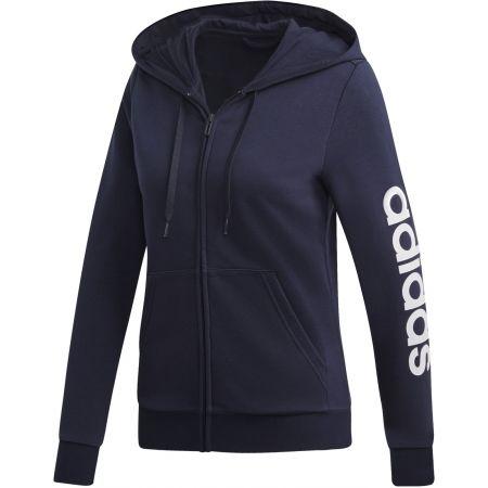 Women's hoodie - adidas ESSENTIALS LINEAR FULL ZIP HOODIE - 1