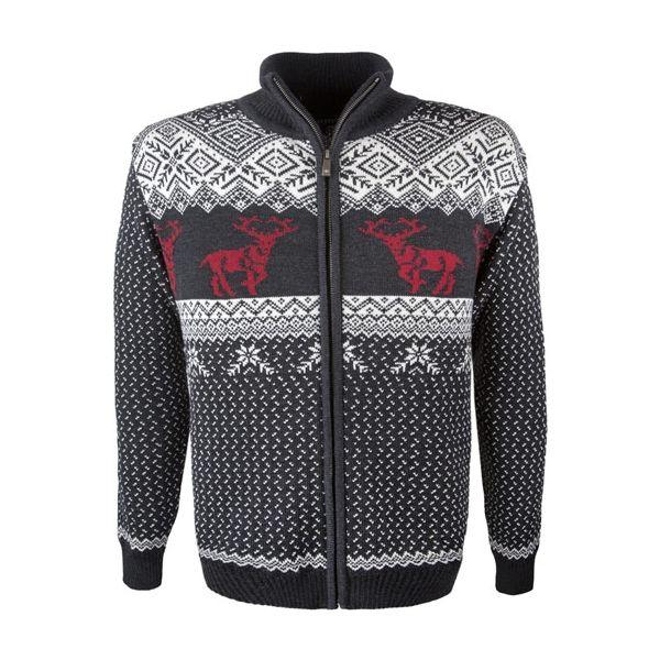 Kama MERINO SVETR 4048 tmavě šedá XL - Pánský pletený svetr