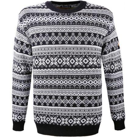 Pletený celovzorovaný svetr - Kama MERINO SVETR 4057