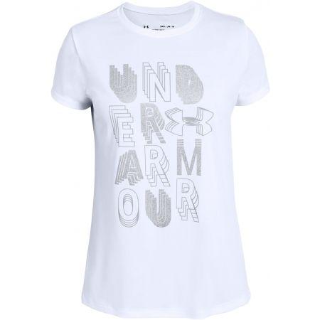 Under Armour LINEAR WORDMARK SS - Dívčí triko