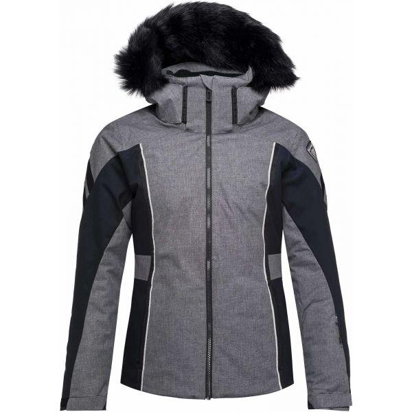 Rossignol W SKI HEATHER JKT tmavě šedá M - Dámská lyžařská bunda