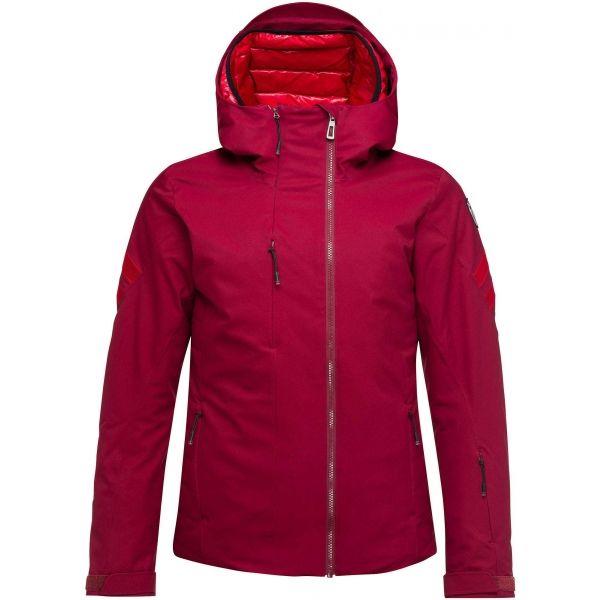 Rossignol W FONCTION JKT vínová L - Dámská lyžařská bunda