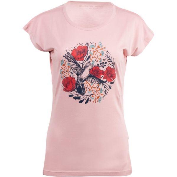 ALPINE PRO MAKIA rózsaszín M - Női póló