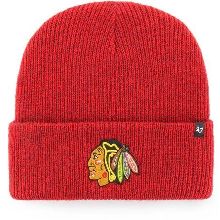 Zimná čiapka - 47 NHL Chicago Blackhawks Brain Freeze CUFF KNIT - 1