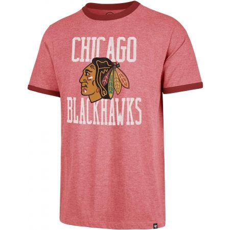 47 NHL CHICAGO BLACKHAWKS BELDIRGE CAPITAL RINGER - Pánské tričko
