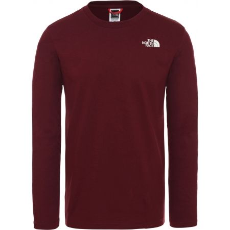 Pánske tričko - The North Face L/S EASY TEE DEEP M - 1
