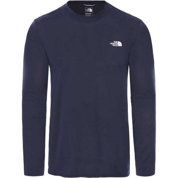 The North Face REA AMP L/S CR-EU modrá XL - Pánské tričko