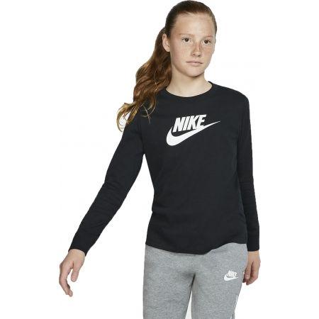 Nike NSW TEE LS ESSNT FUTURA HOOK - Tricou de fete