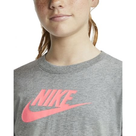 Dívčí tričko - Nike NSW TEE LS ESSNT FUTURA HOOK - 5