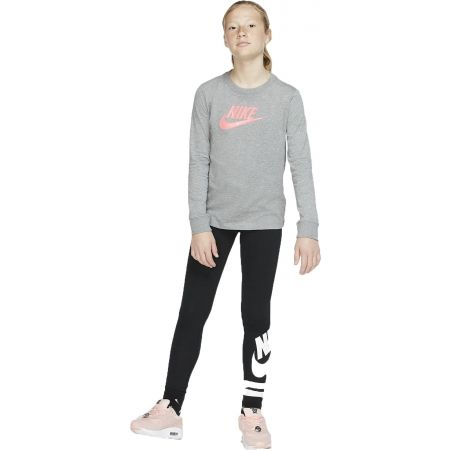 Dívčí tričko - Nike NSW TEE LS ESSNT FUTURA HOOK - 6