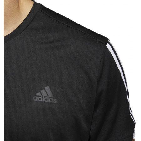 Мъжка тениска - adidas RUN 3STRIPES TEE MEN - 8
