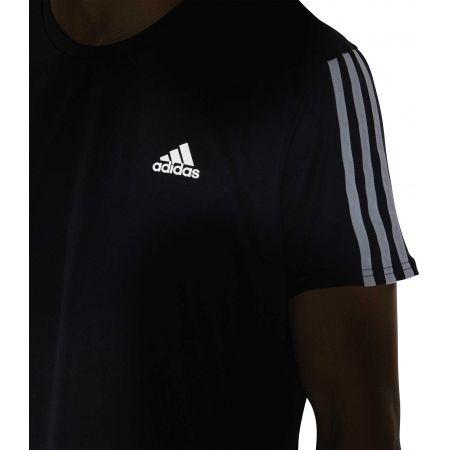 Мъжка тениска - adidas RUN 3STRIPES TEE MEN - 9