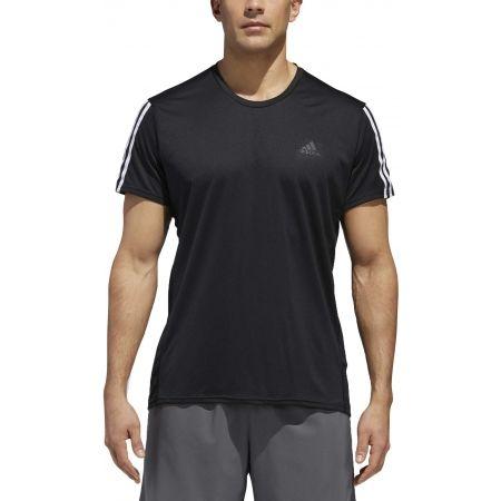 Мъжка тениска - adidas RUN 3STRIPES TEE MEN - 3
