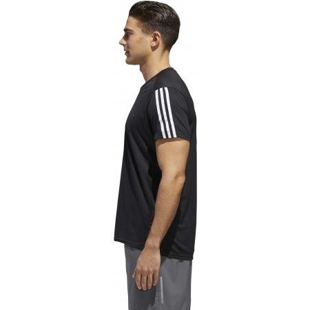 Мъжка тениска - adidas RUN 3STRIPES TEE MEN - 6