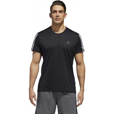 Мъжка тениска - adidas RUN 3STRIPES TEE MEN - 4